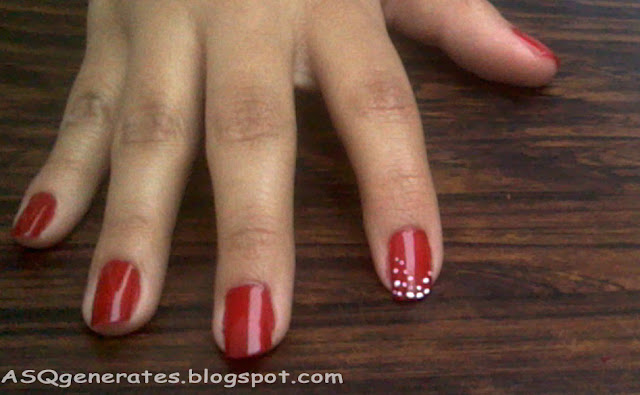 Create white dot on the tips