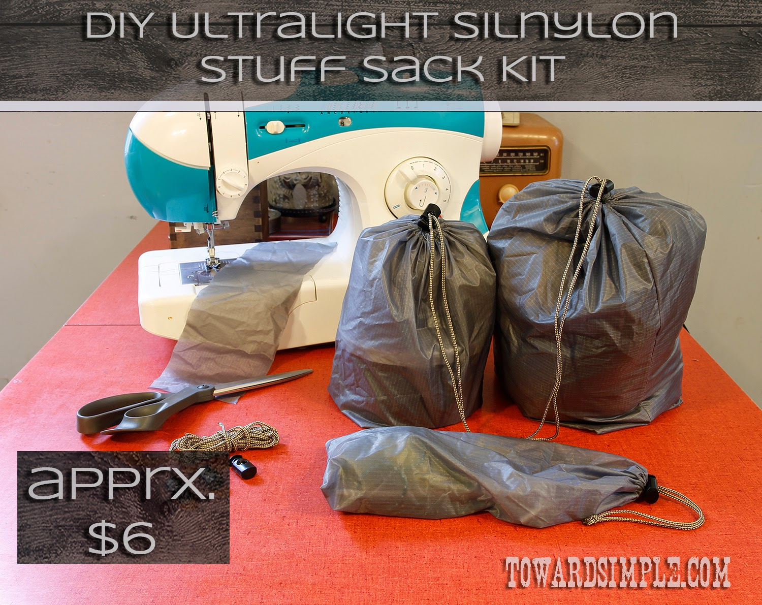 Sewing silnylon stuff sacks ultralight