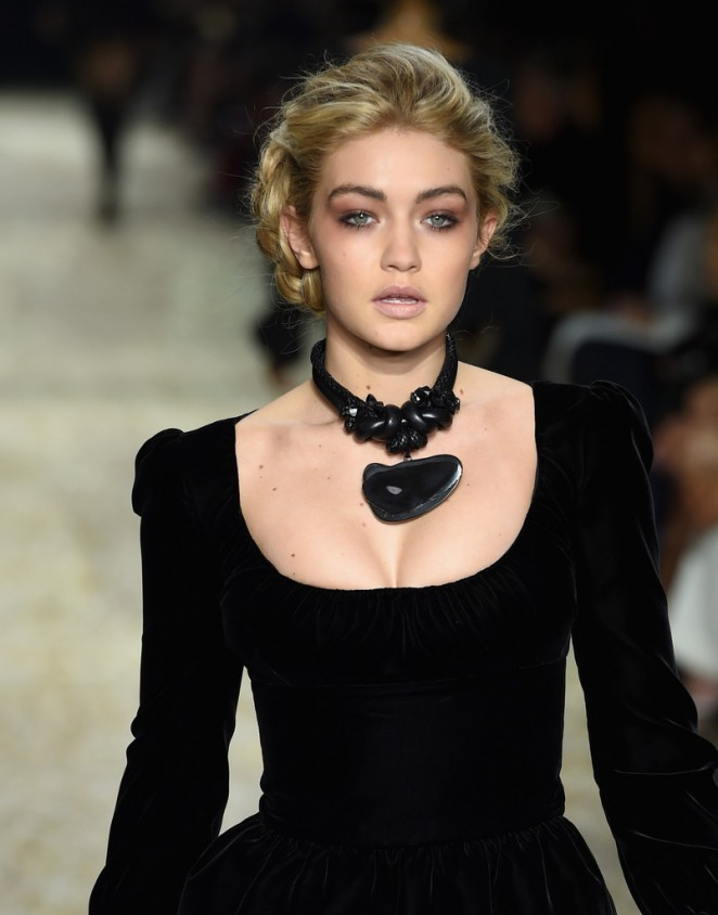 Gigi Hadid dazzles at the Tom Ford Fall/Winter 2015 Fashion Show in LA