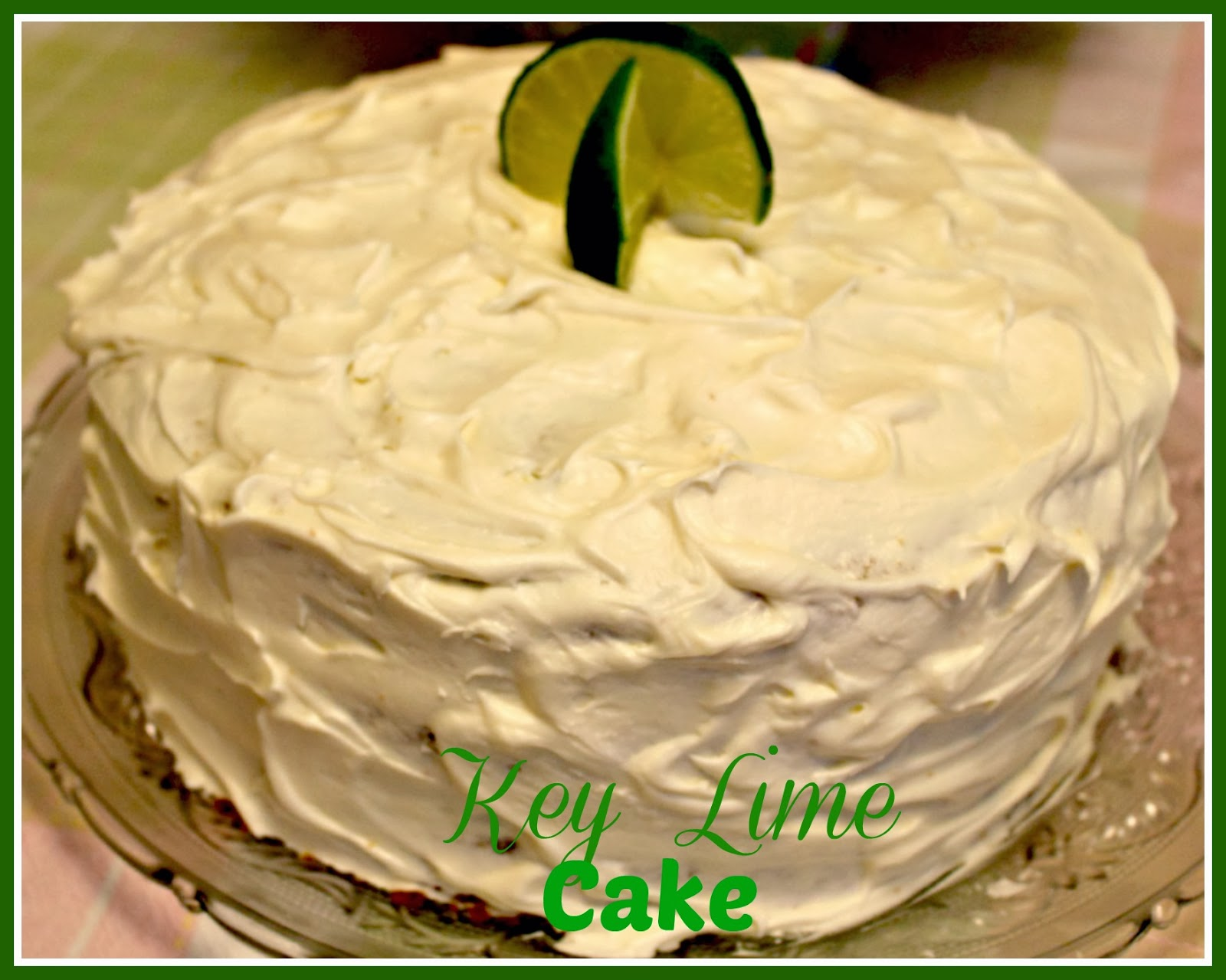 Frost the entire cake and if you want to garnish use some lime slices ...
