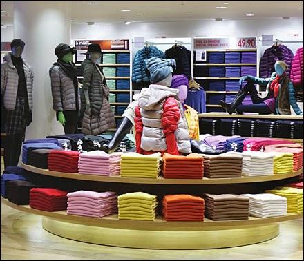 kolory na sklepowych półkach