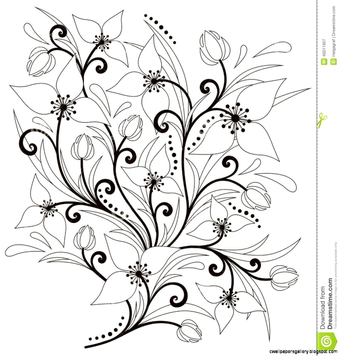 Flower Arrangement Stock Vector   Image 40011907