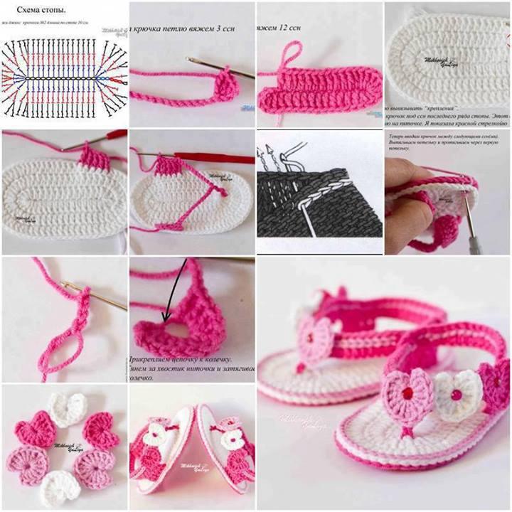 Zapatitos de crochet: Tutorial | . . . . . . . . . . . . El detalle ...
