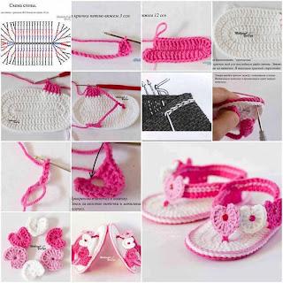 Crochet Tutorial Zapatitos : aprendas a hacer unos bellos huaraches o sandalias tejidas con crochet ...