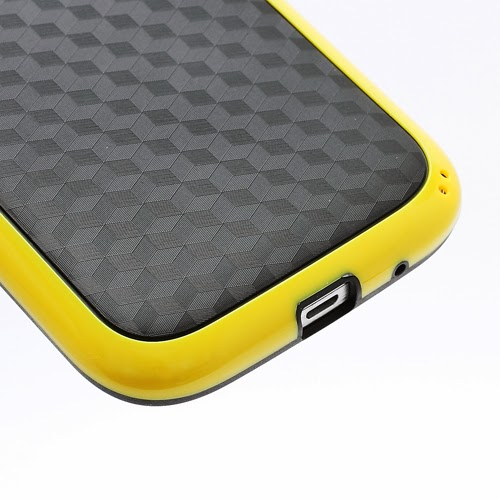 3D Cube TPU Case for Samsung Galaxy Grand I9080 Grand Duos I9082 - Black / Yellow