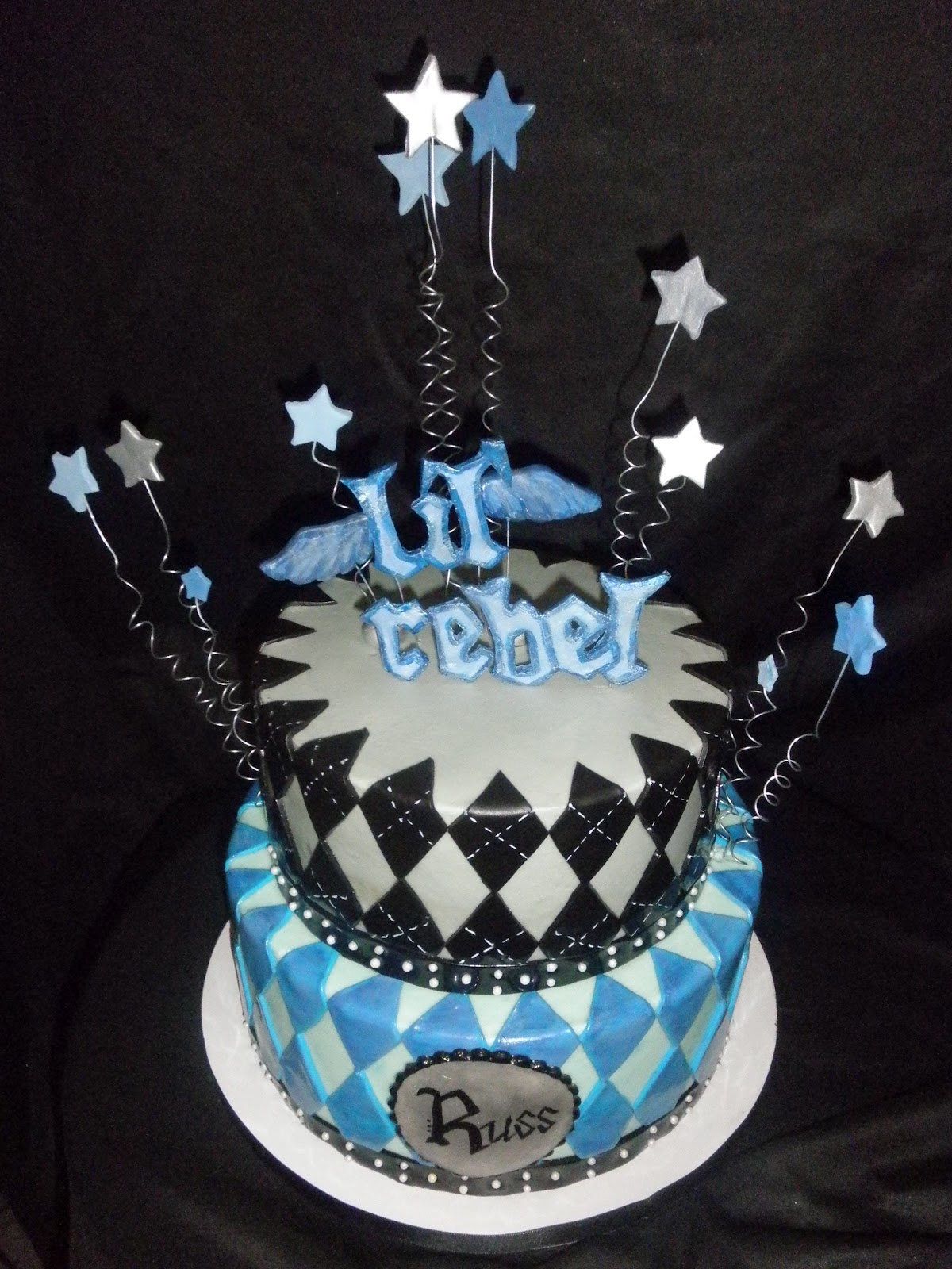 Sweet T\'s Cake Design: Lil\' Rebel 1st Birthday Cake and Smash Cake