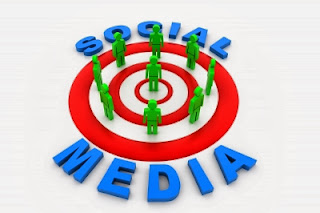 target symbol and the words social media