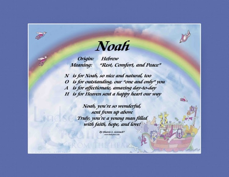 The Daily Boo: Noah - Name Meaning & History