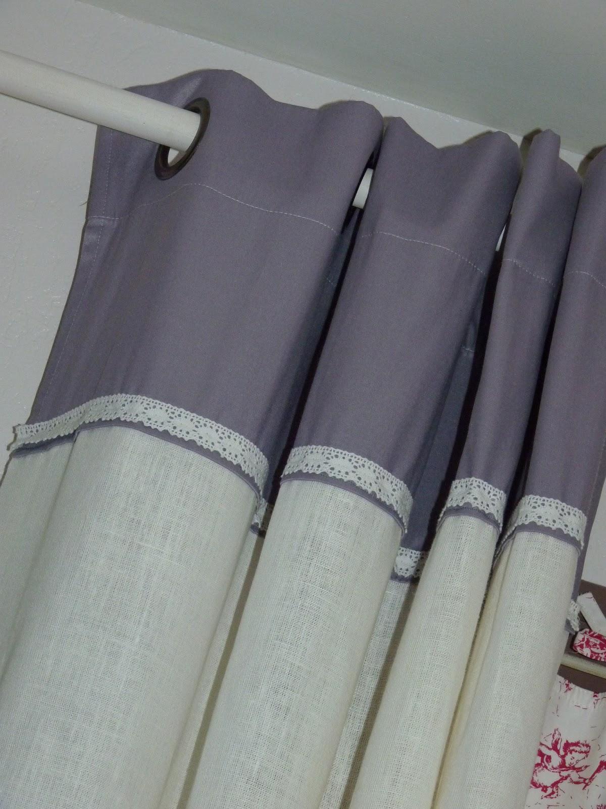 mon blog de beaux double rideaux en lin. Black Bedroom Furniture Sets. Home Design Ideas