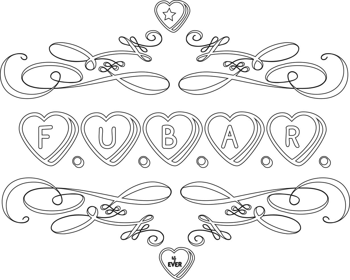Sweater surgery f u b a r 4 ever conversation hearts for Candy heart coloring pages