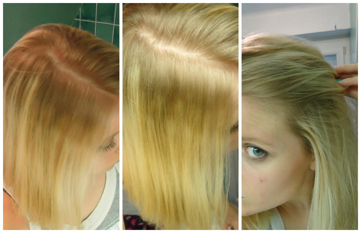 donc jai les racines qui repoussent assez vite et jai voulu test la gele pour palier ces racines fonces petit exemple juste en dessous - Gele Claircissante Garnier Sur Cheveux Colors