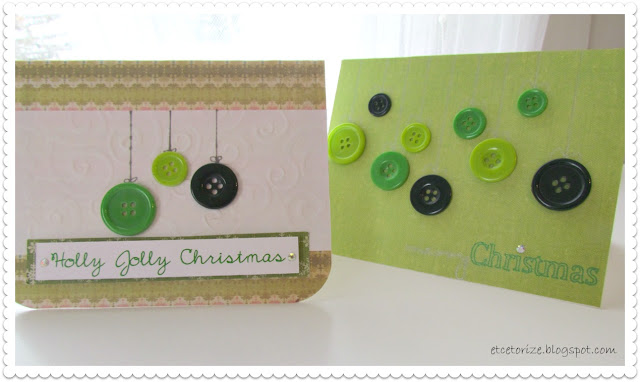 DIY Christmas Cards, Button Cards, Button Art