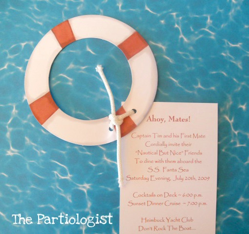 The Partiologist Nautical Party – Fondue Party Invitation Wording