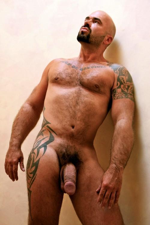 Hairy Black Muscle Man