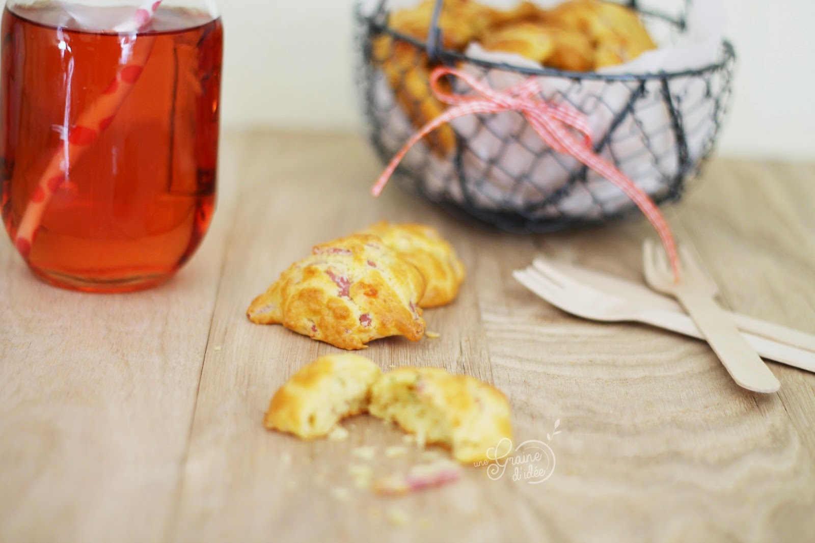 Cookies Salés {Allumettes de Jambon, Parmesan, Piment d'Espelette et Tomates Séchées} - Une Graine d'Idée