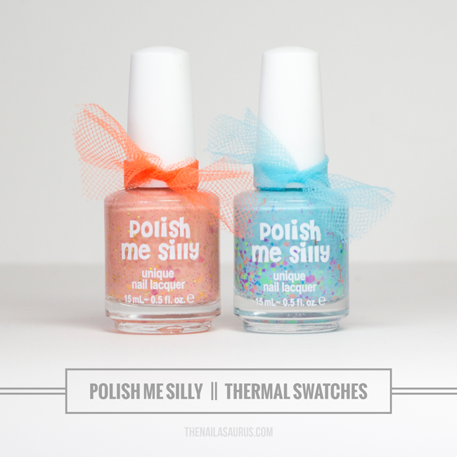 Polish Me Silly Thermal Color Changing Nail Polish Swatches // The Nailasaurus