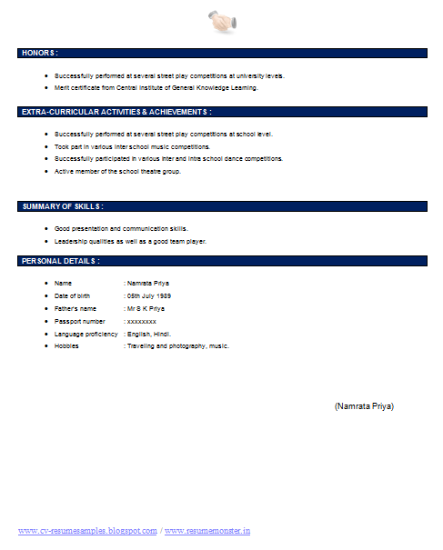 ... Resume Samples with Free Download: Company Secretary Resume Template