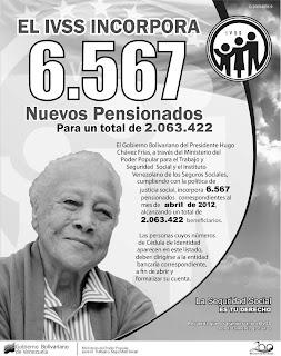 lista de pensionados marzo 2012