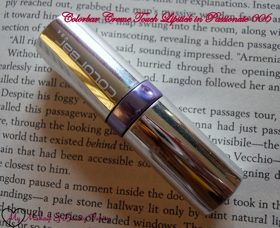 Colorbar Creme Touch Lipstick in Passionate 006+colorbar lipstick review