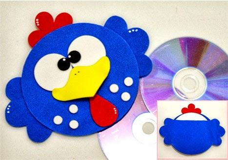 lembrancinha dia das crianças Porta CD da galinha pintadinha