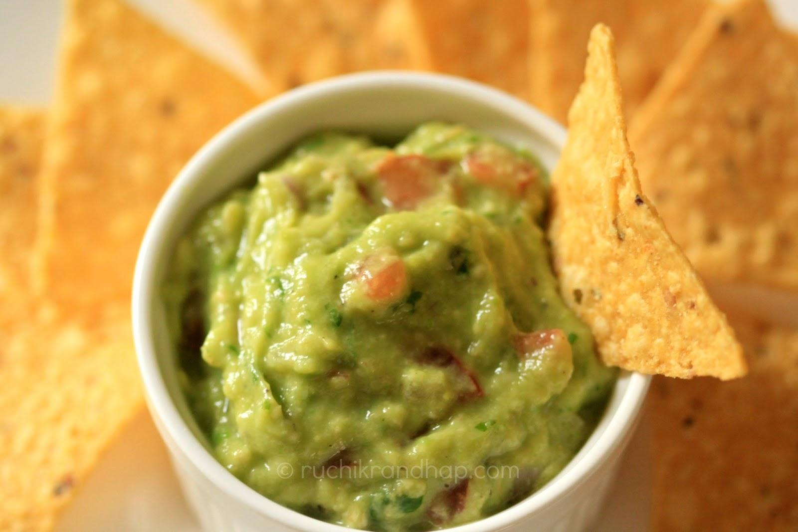 Ruchik Randhap (Delicious Cooking): Guacamole (Mexican Avocado Dip)