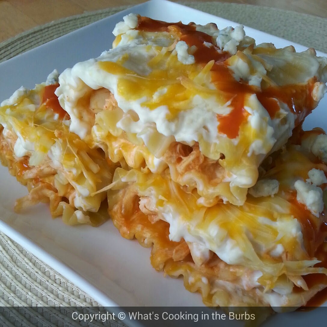 Buffalo Chicken Lasagna Rollups by What's Cooking in the Burbs