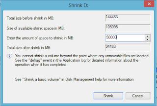 tampilan shrink D