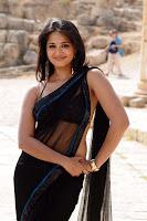 Anushka Back in Black Saree Hot Photos32