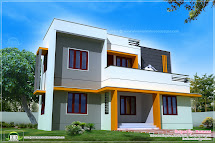 1400 Sq.feet Modern Contemporary Home Exterior - Kerala
