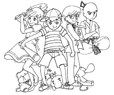 #5 Ness Coloring Page