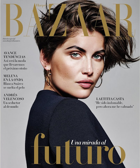 Actress, Model @ Laetitia Casta by Alique for Harper's Bazaar Spain, August 2015
