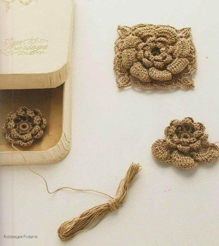 Bolso tejido al crochet con grannys florales - con esquemas y patrones