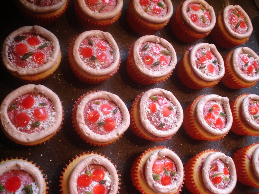 the musing foodie Pizza Cupcakes