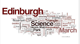 word cloud of Edinburgh Science Triangle