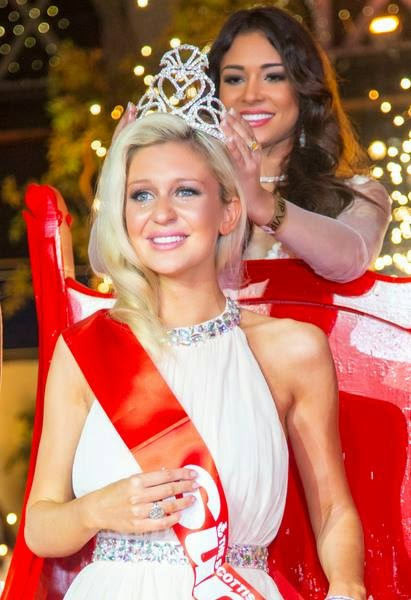 Miss Scotland 2014 winner Ellie McKeating