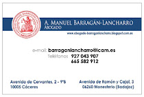 A. Manuel Barragn-Lancharro, abogado y asesor jurdico