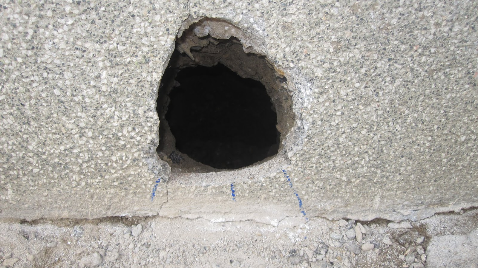 Hole In Concrete Wall : The renovation upwards and onwards downwards too i