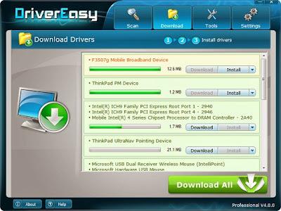 تحميل برنامج DriverEasy للبحث عن تعريفات الويندوز في النت