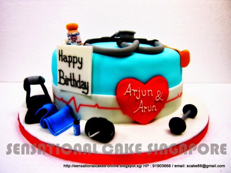 The Sensational Cakes Doctor Cake Singapore Gym Cake Singapore