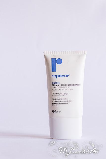 Crema Hidroequilibrante de la gama Oil Free de Repavar