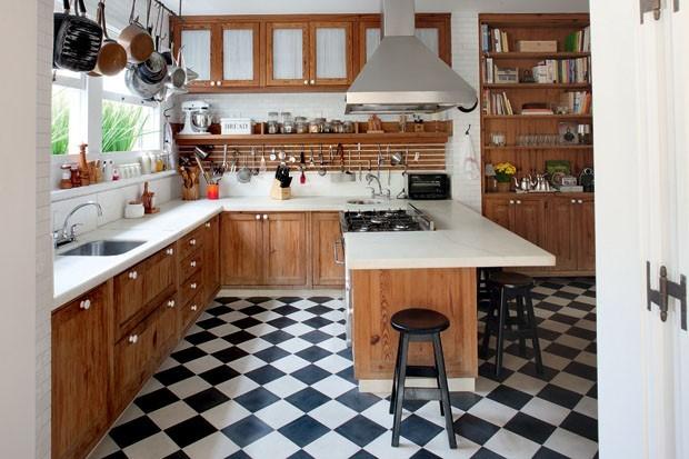 decoracao de cozinha xadrez