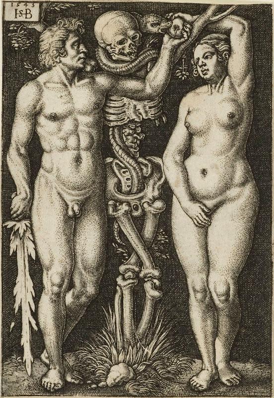 Hans Sebald Beham: Adam og Eva
