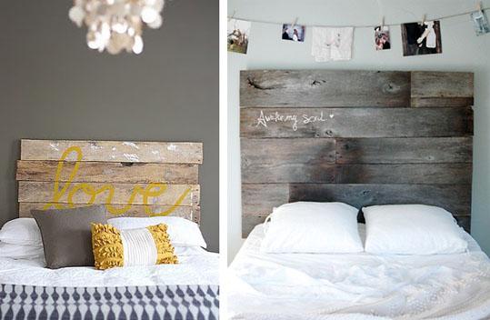 A deco elementos de dise o cabeceras de cama - Cabecera de cama reciclada ...