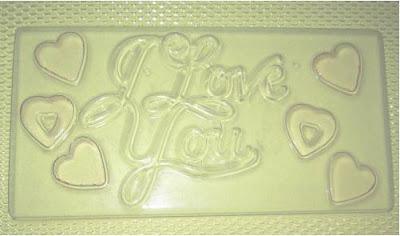 ... coklat, candy, kek, puding dan peralatan dekorasi kek: Love with heart