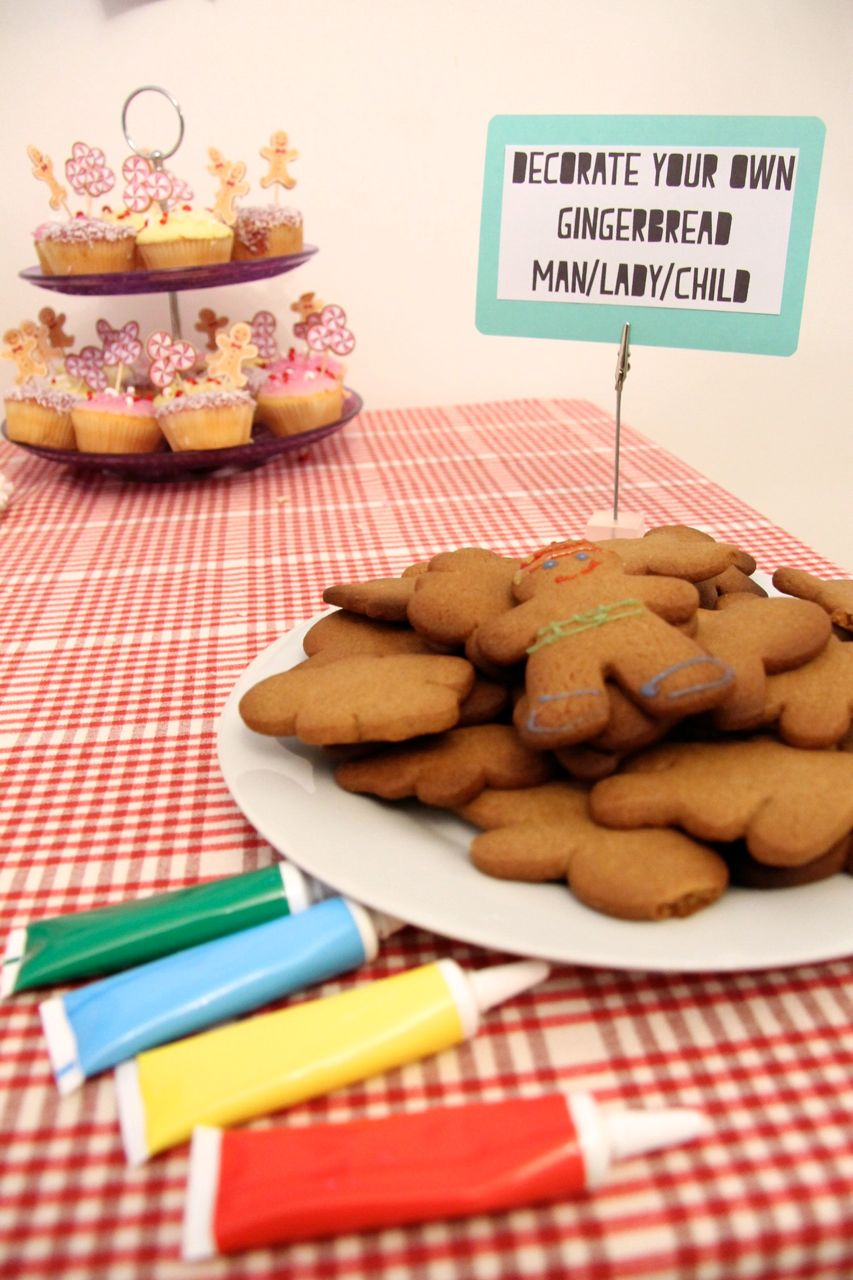 gingerbread men christmas party