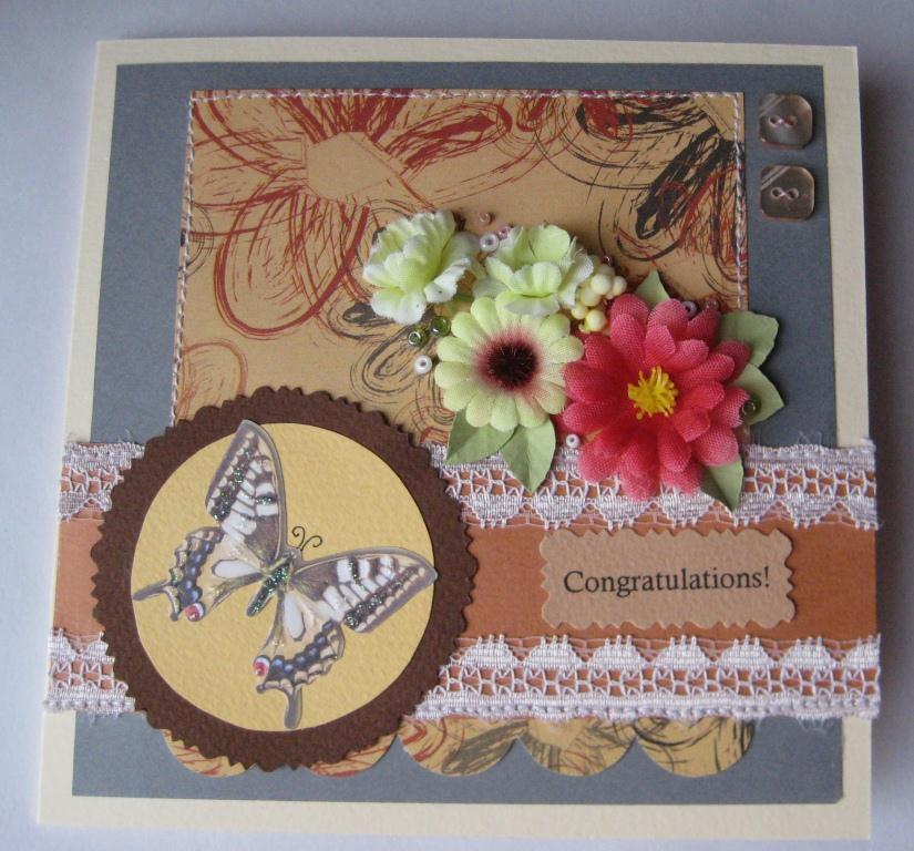 Подарок Открытка Samoshkina «CONGRATULATIONS » - купить в