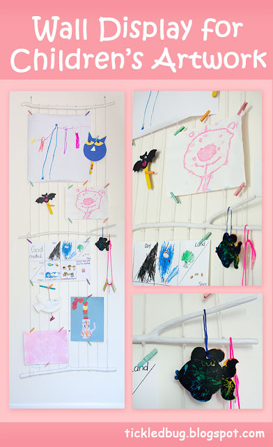 DIY Wall Display for Children's Artwork