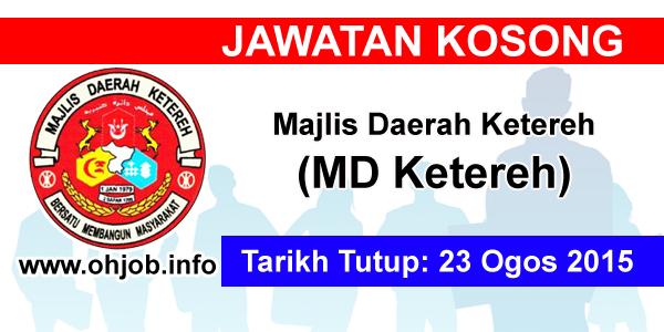 Jawatan Kerja Kosong Majlis Daerah Ketereh (MDKetereh) logo www.ohjob.info ogos 2015