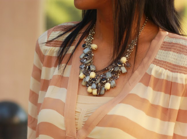 statement necklace with vneck gems 2 broke girl necklace