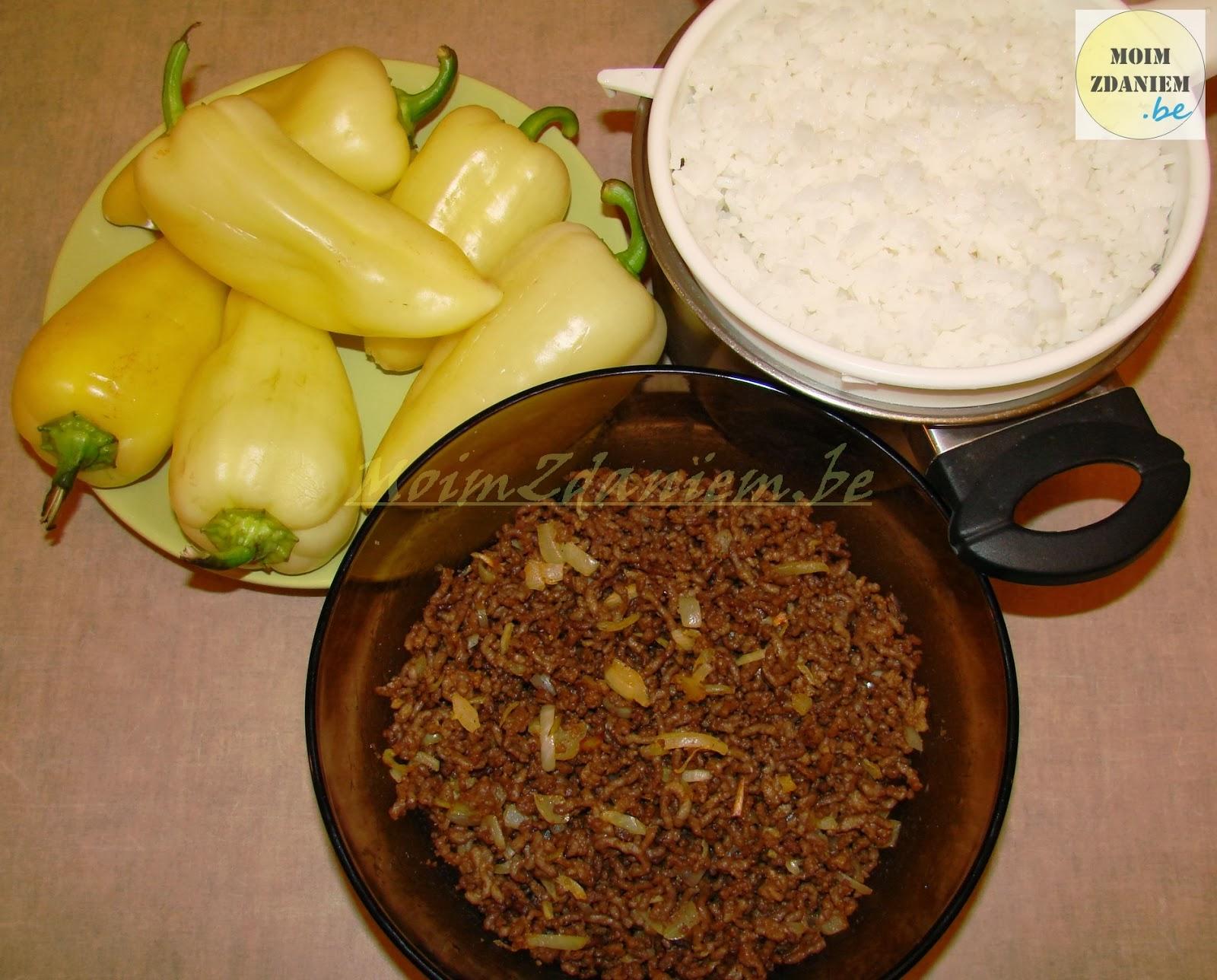 papryka faszerowana z mięsem i serem składniki